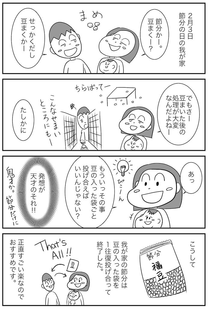4コマ漫画(節分)