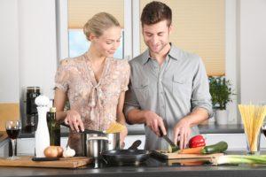 man-woman-kitchen