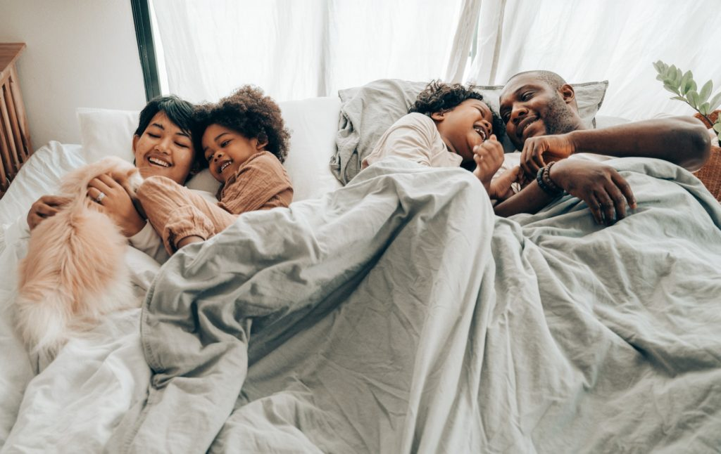 family-on-the-bed