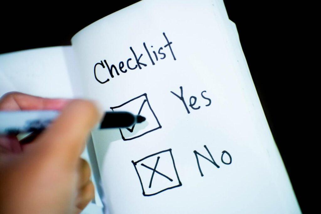 checklist-yes-no